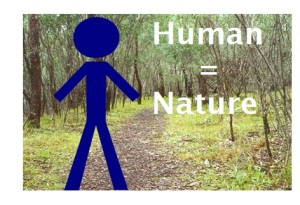 human equals nature